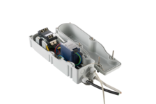 Outdoor mast box IP67 for PoE+ and fiber optic outdoor applications