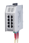 10-Port GbE Industrial PL Switch (opt. PoE) CERT